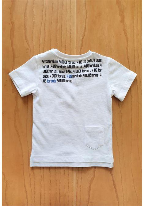 T-SHIRT BIANCA STAMPA FRONTE RETRO cesare paciotti | T-shirt | TSP1159BUNI