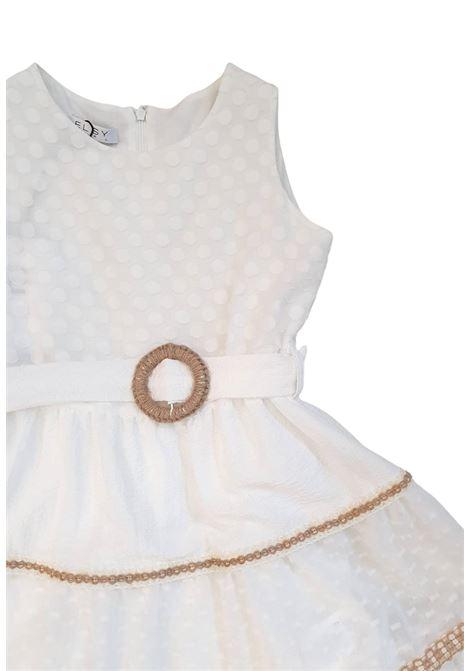abito bianco in cotone con cintura in vita elsy | Abiti | CASSANDRAUNI
