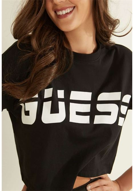 T-shirt nera guess GUESS beachwear | T-shirt | 01GA03K8HM0BLACH