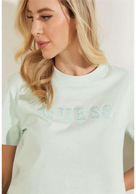 T-SHIRT VERDE MENTA GUESS GUESS beachwear | T-shirt | 01GA06K8HM0MENTA