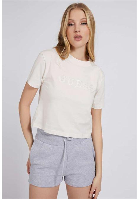 T-SHIRT PANNA GUESS GUESS beachwear | T-shirt | 01GA06K8HM0WHITE