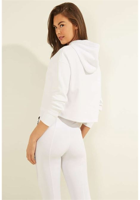Felpa bianca guess GUESS beachwear | Felpe | 01GA61KA3P1WHITE