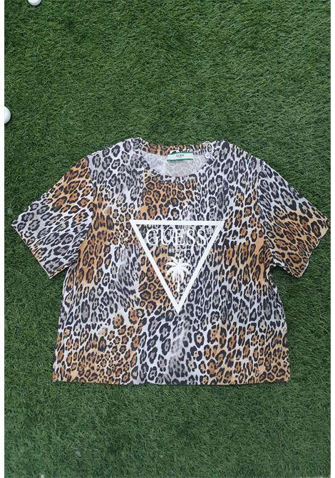 T-shirt leopardata guess GUESS beachwear | T-shirt | E02I01JA911LEOPARD