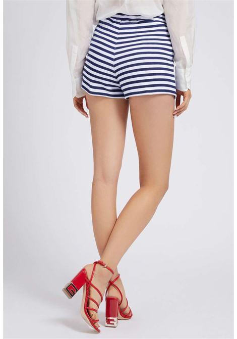Pantaloncino a righe guess GUESS beachwear | Gonna e Shorts | E1GD01K68I1BIANCO
