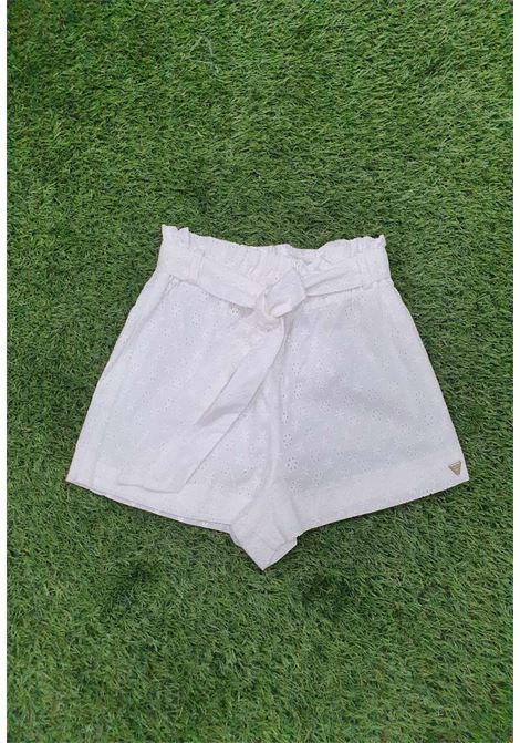 Short bianco guess GUESS beachwear | Gonna e Shorts | E1GD08W005PWHITE