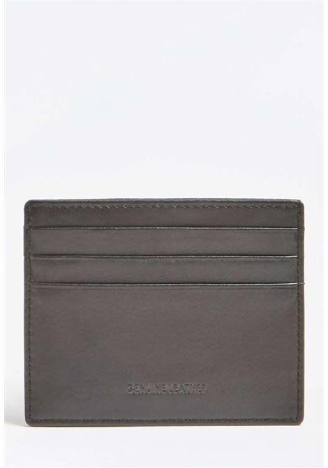 Porta carte nero guess GUESS borse man | Portafogli | SM2420BLACH