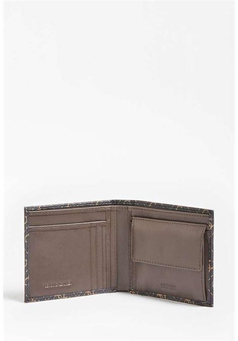 Portafoglio logato marrone guess GUESS borse man | Portafogli | VEZLLEA20BROWN