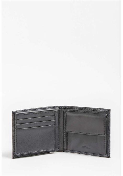 Portafoglio nero logato guess GUESS borse man | Portafogli | VEZLLEA24BLACH