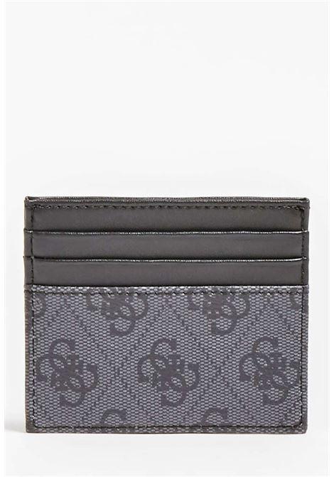Porta carte logato guess GUESS borse man | Portafogli | VEZLLEA25BLACH