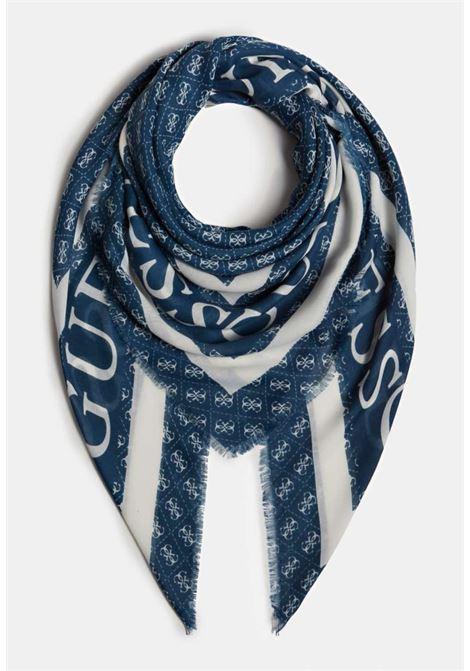 Foulard blu e bianco guess GUESS borse | Foulard | AW8606BLU