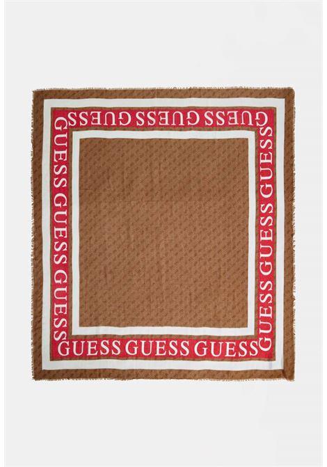 Foulard marrone guess GUESS borse | Foulard | AW8606LATTE