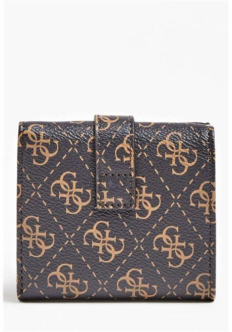 Mini-portafoglio logato guess GUESS borse | Portafogli | SG7966380BROWN