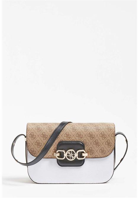Borsa bianco e logato guess GUESS borse | Borse | SG81I3210LATTE