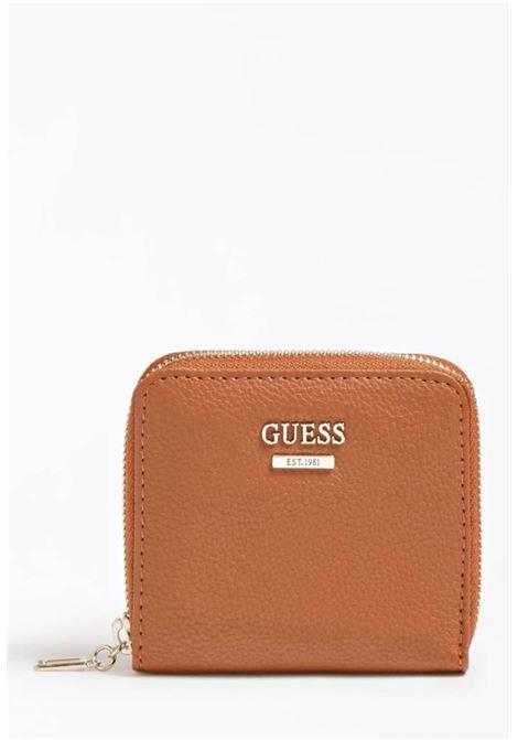 Mini-portafoglio cuoio guess GUESS borse | Portafogli | VG7881370COGNAC