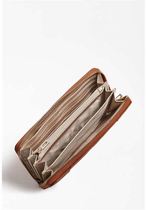 Portafoglio cuoio guess GUESS borse | Portafogli | VG7881460COGNAC
