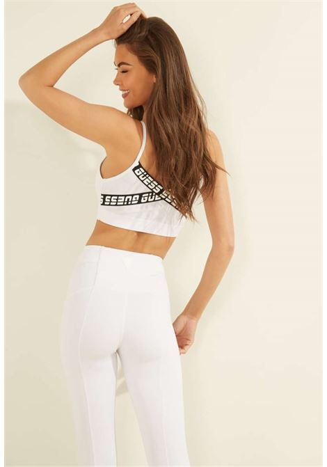 Top fit bianco guess GUESS fitness | Top | O1GA53MC03WBIANCO