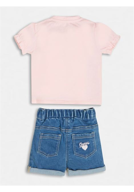set 2 pezzi t-shirt e short in denim GUESS kids | Set | A1RG09K6YW0G600