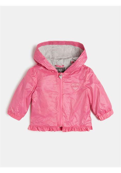 giacca a vento con cappuccio rosa GUESS kids | Capispalla | A1RL00WCBS0G607
