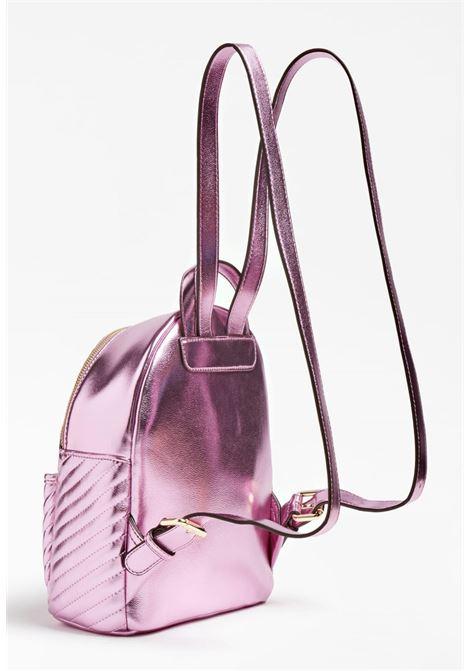 zaino multi tasca laminato rosa con borchie GUESS kids | Borse | HGKAT1PU211PINK