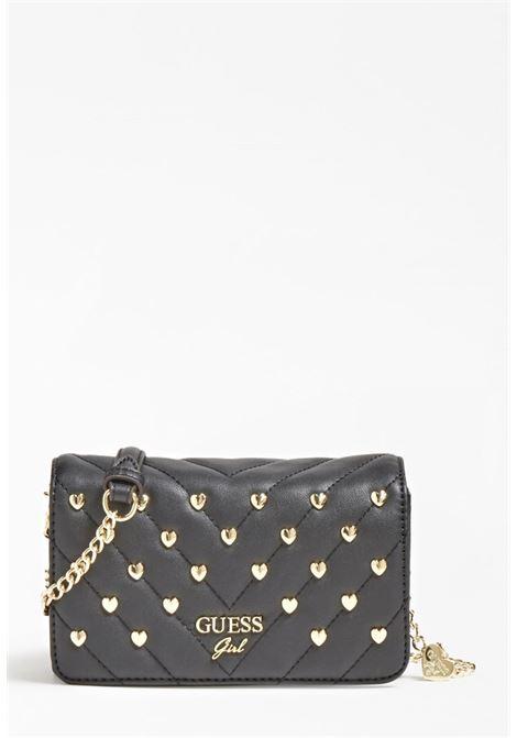 mini bag con tracolla nera e borchie oro GUESS kids | Accesori | HGKAT2PU211BLACK
