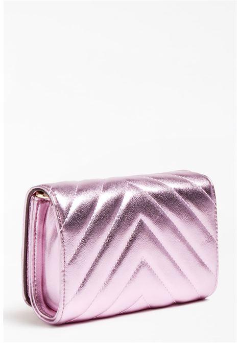 mini bag con tracolla rosa e borchie oro GUESS kids | Borse | HGKAT2PU211PINK