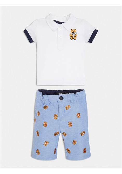 COMPLETO POLO E SHORT ORSETTI GUESS kids | Set | I1RG20K9NJ0TWHT