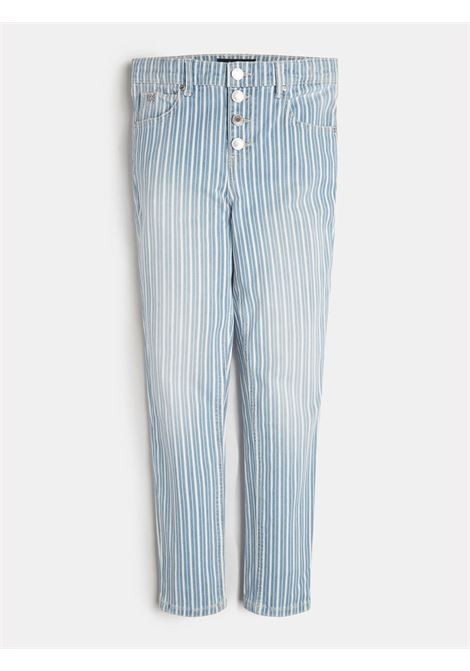 pantalone in denim 5 tasche rigato GUESS kids | Pantaloni | J1GA00D4CR1OCST