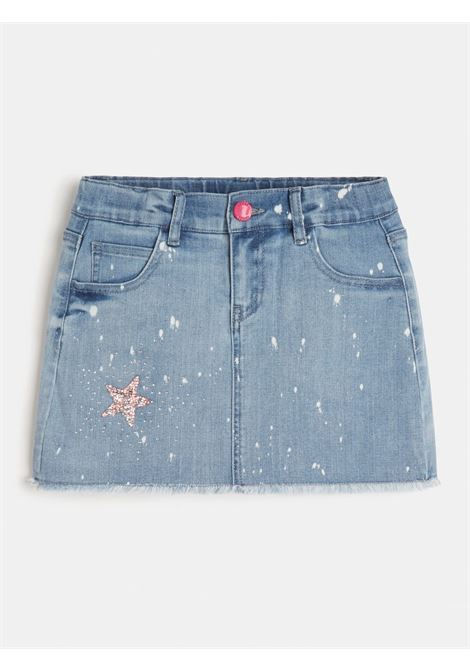 gonna in tessuto jeans con patch GUESS kids | Gonna e Shorts | J1GD14D4CA0DENIM