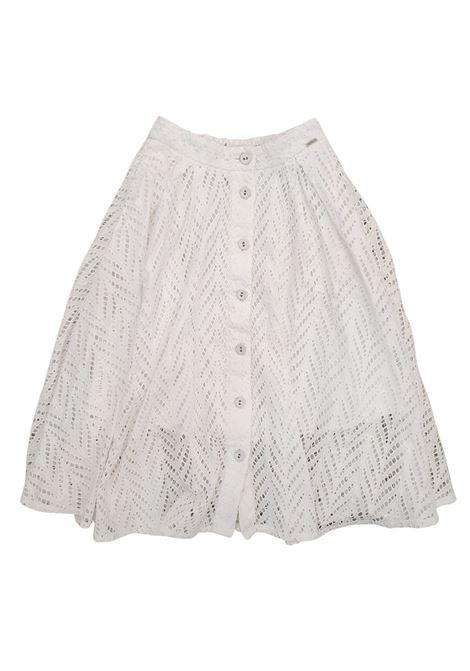 gonna in cotone bianca traforata GUESS kids | Gonna e Shorts | J1GD26WDVA1WHITE