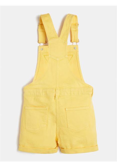 salopette in jeans logo frontale gialla GUESS kids | Gonna e Shorts | J1GK12WB5Z0YELLOW