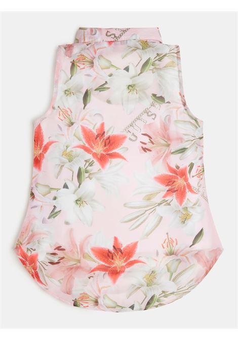 camicia smanicata fantasia floreale in cotone GUESS kids | T-shirt | J1RH04WA2T0P4X1