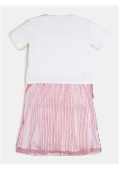 abito felpa con gonna in tulle rosa GUESS kids | Abiti | J1RK22K6YW0TWHT