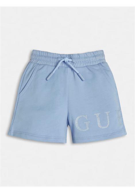 short in felpa sportivo scritta frontale GUESS kids | Gonna e Shorts | K1GD08KAN00EUSB