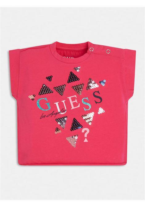 t-shirt asimmetrica mezza manica in cotone GUESS kids | T-shirt | K1GI03K6YW1JLPK