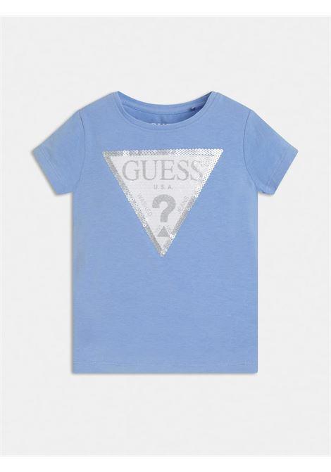 t-shirt mezza manica con logo in pailette frontale GUESS kids | T-shirt | K1RI19K6YW1G730