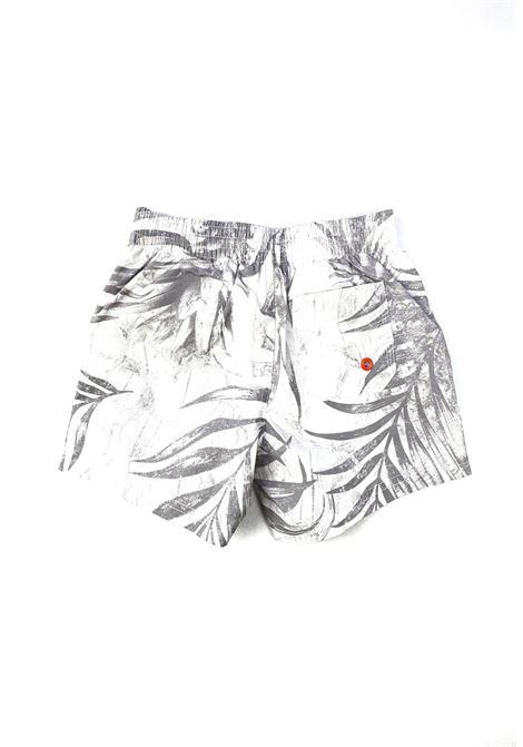 short mare bianco con fantasia palme e logo arancio GUESS kids | Costumi | L1GZ00TEL60P9BT