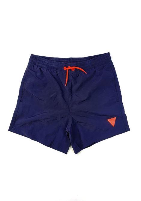 short mare blu logo frontale arancio GUESS kids | Costumi | L1GZ01TEL27DEKB