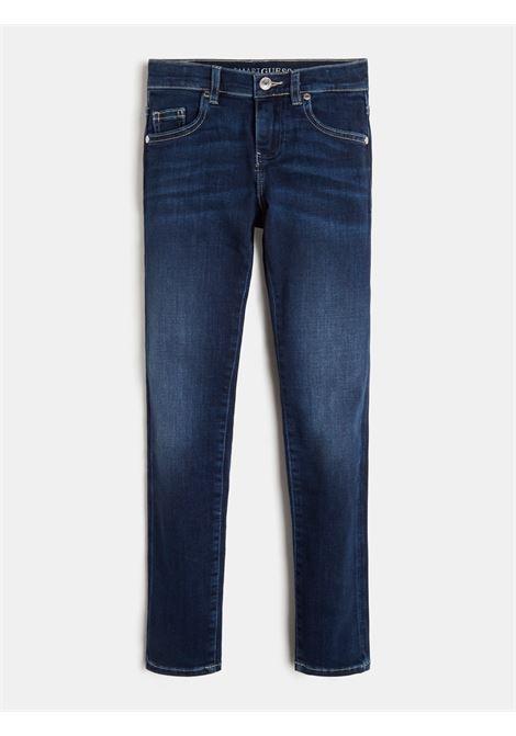 jeans 5 tasche stretch lavaggio chiaro GUESS kids | Pantaloni | L1RA17D4AK0ALBM