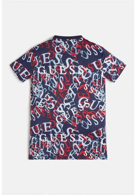 t-shirt in cotone mezza manica logata GUESS kids | T-shirt | L1RI07K8HM0P0X5