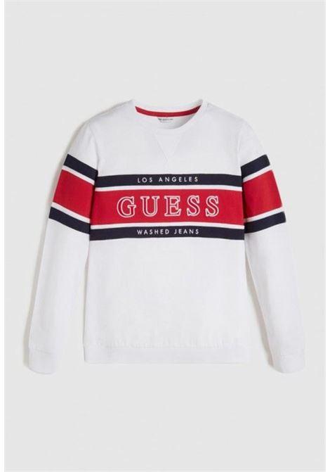 t-shirt in cotone manica lunga bianca GUESS kids | T-shirt | L1RI20K8HM0TWHT