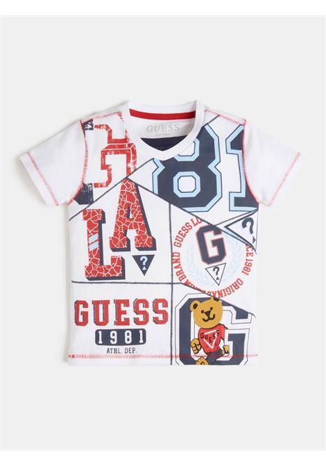 T-SHIRT BIANCA CON STAMPA FRONTALE GUESS kids | T-shirt | N1RI20K8HM0TWHT