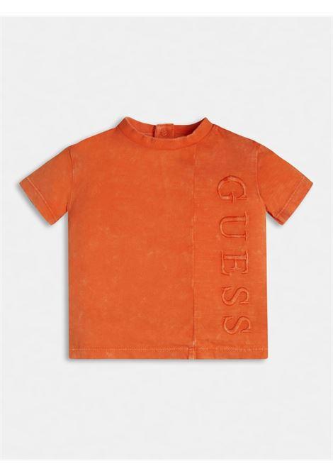 T-SHIRT ARANCIO  SCRITTA RICAMATA FRONTALE GUESS kids | T-shirt | N1RI22K8HM0RSOG