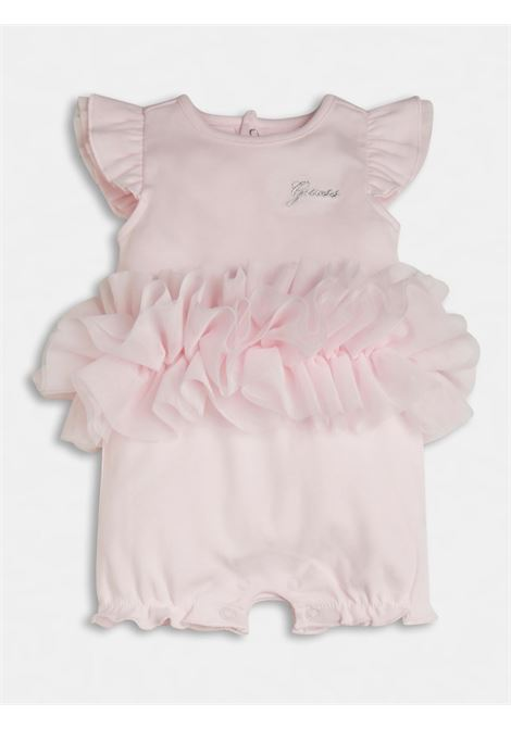pagliaccetto in cotone rosa e applì tulle GUESS kids | Tutina | S1RG12KA6W0G6A5
