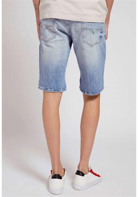 Bermuda in jeans guess GUESS man | Pantaloni | M1GD01D4B73BRE2