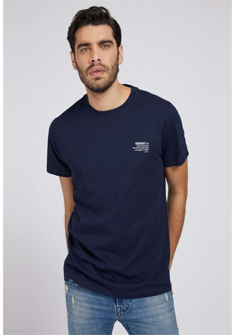 T-shirt blu guess GUESS man | T-shirt | M1GI66K8HM0BLU