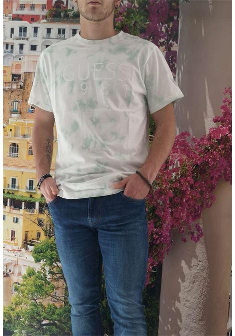 T-shirt verde guess GUESS man | T-shirt | M1RI62K8FQ0VERDE