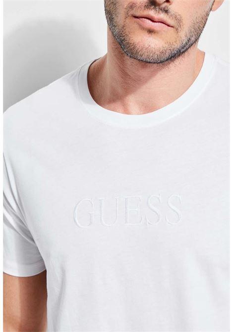 T-shirt bianca guess GUESS man | T-shirt | M82P64R7HD0BIANCO