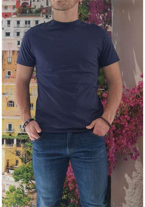 T-shirt blu guess GUESS man | T-shirt | M82P64R7HD0BLU