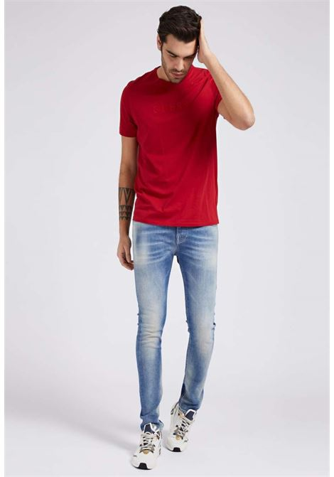 T-shirt rossa GUESS man | T-shirt | M82P64R7HD0ROSSO