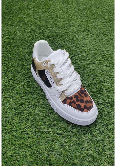 Sneaker bianca guess GUESS SCARPE | Scarpe | FL5JL2FAL12BROWN